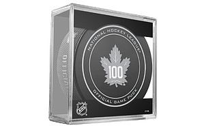 puk NHL Regular Season Anniversary Toronto Maple Leafs