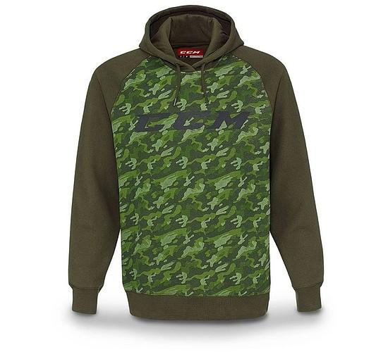 mikina CCM Camo Grit Fleece Pullover Hood SR